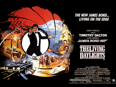the living daylights poster dalton bond